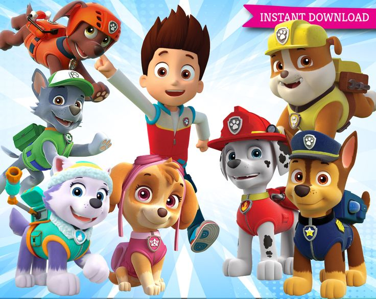 Paw Patrol Clipart Printable Pictures Transparent