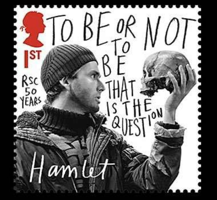 Citaten Shakespeare Hamlet : To be or not hamlet on a stamp shakespeare for