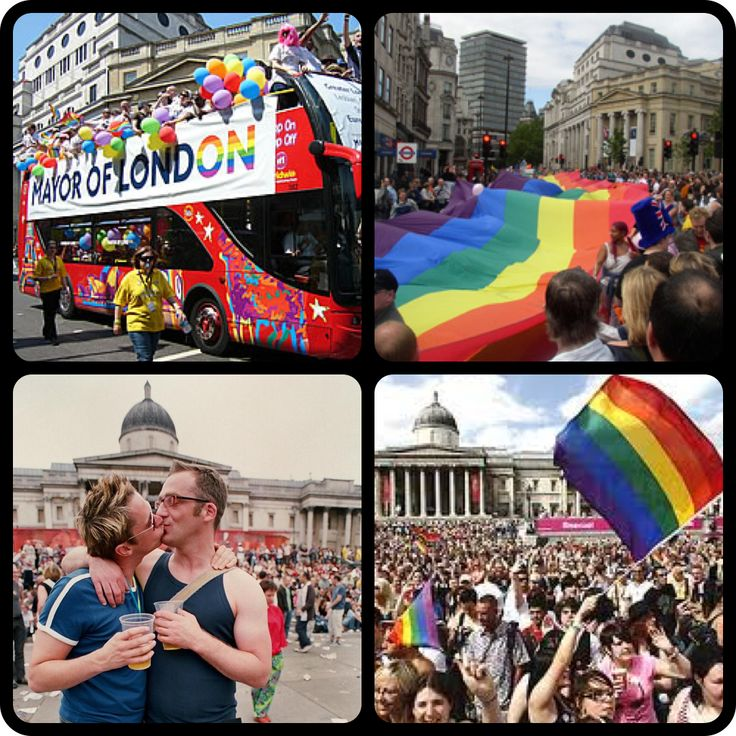 Nowhere does Gay Pride like London! Even our mayor joins in the parade! To see such a traditionally conservative city waving their rainbow flags with pride makes me LOVE to LIVE in London! #pinyourcity