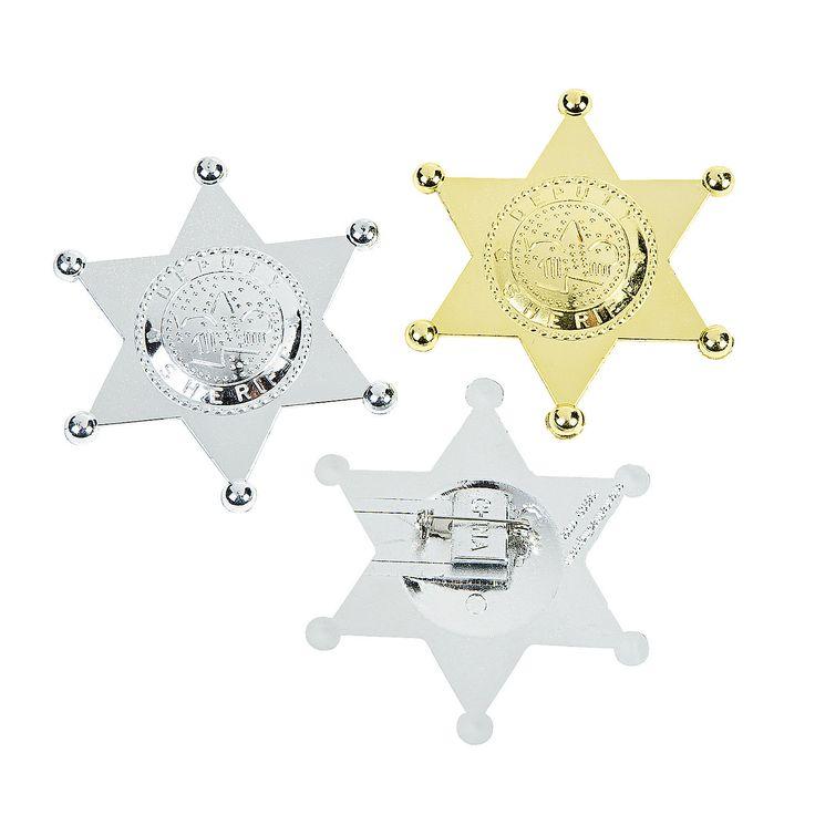 Deputy Sheriff Badges - OrientalTrading.com