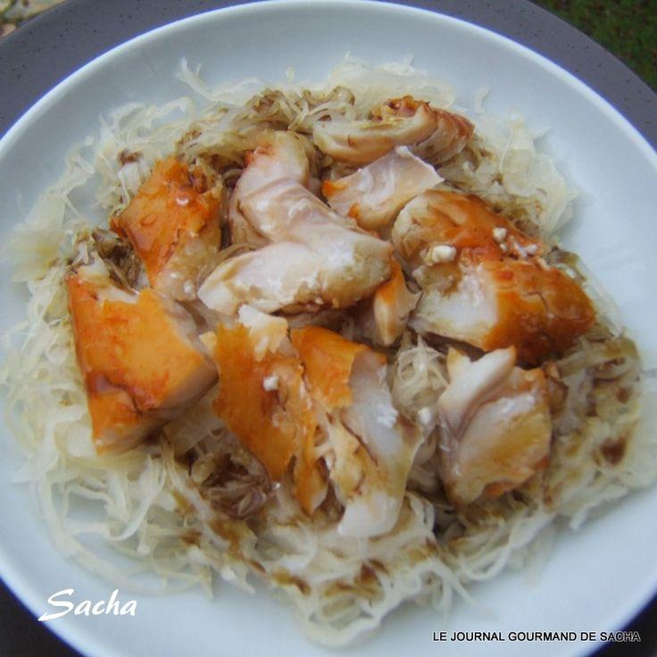 Salade de choucroute crue au haddock  Recette pour : 4 pers Préparation : 15 mn Cuisson : 5 mn pour le pochage du haddock dans le lait Il ...