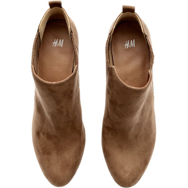 H&M Boots (185 RON) ❤ liked on Polyvore featuring shoes, boots, ankle booties, platform ankle bootie, platform booties, high heel bootie, short boots and platform bootie