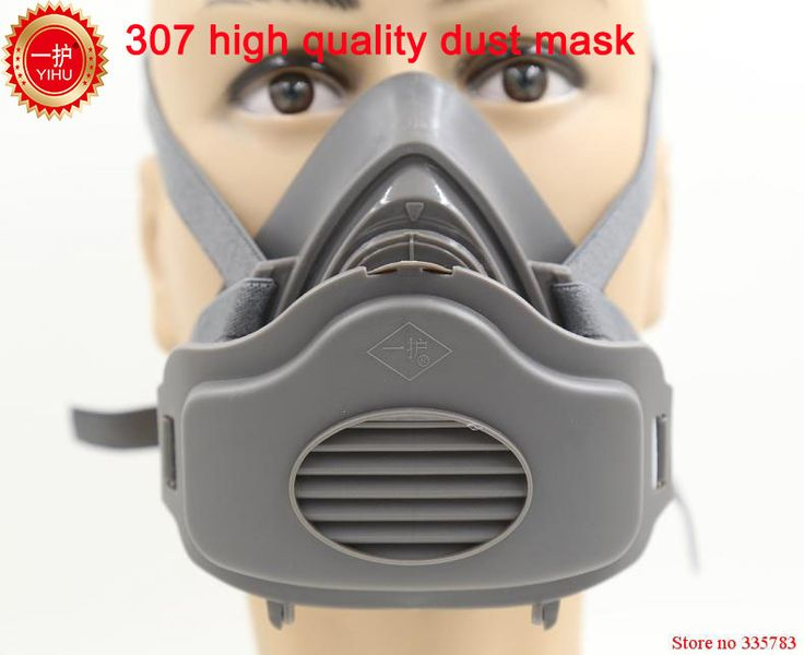 YIHU respirator dust mask High quality Silicone respirator mask PM2.5 dust smoke automobile exhaust safety protect mask #Affiliate