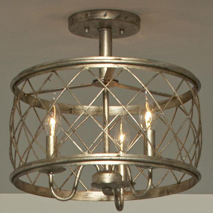 Trellis Cage Semi Flush Ceiling Light Medium In 2020