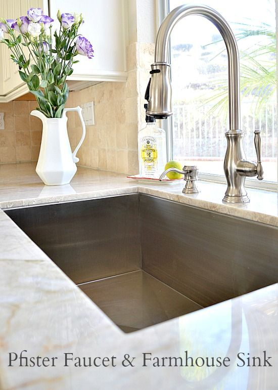 White and Elegant Kitchen Remodel Idea Kitchen sinks, Stainless sink ...