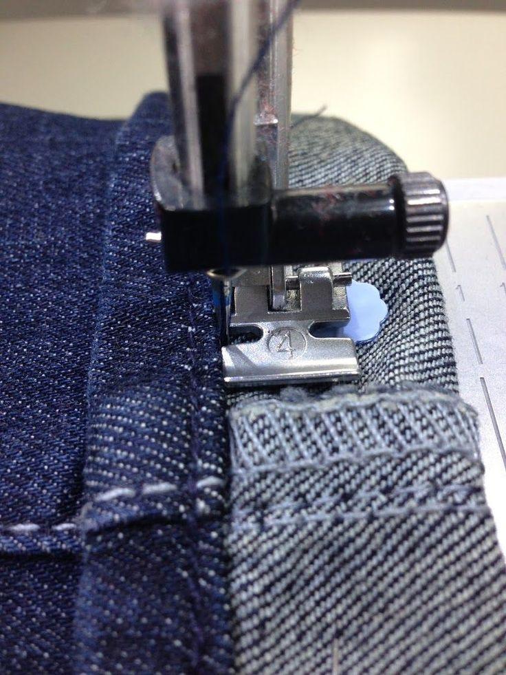 Originalsaum einer Jeans umnähen | Pech & Schwefel