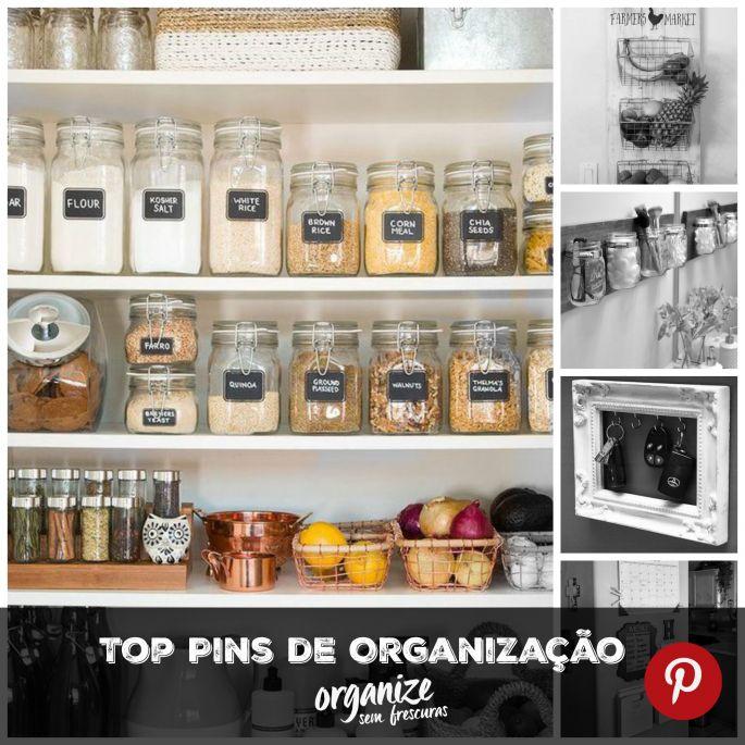 5 Top Pins de Organização no Pinterest