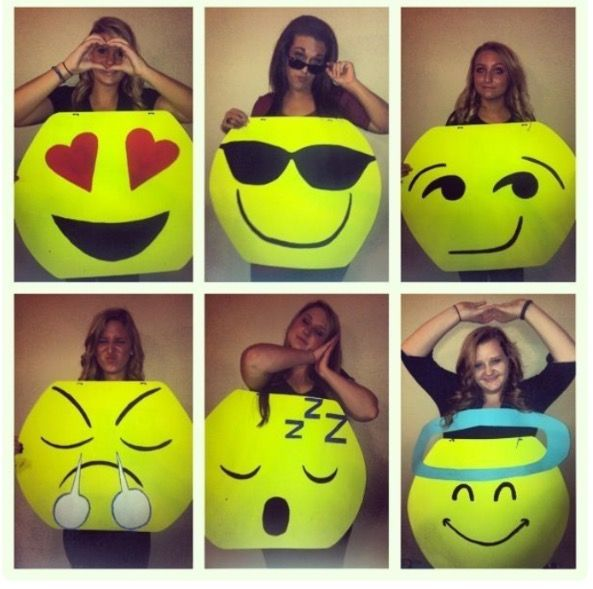 Emoji Halloween costume!  A great idea to be with your friends