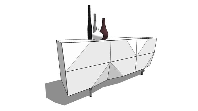 Large preview of 3D Model of Brik sideboard Tanger
