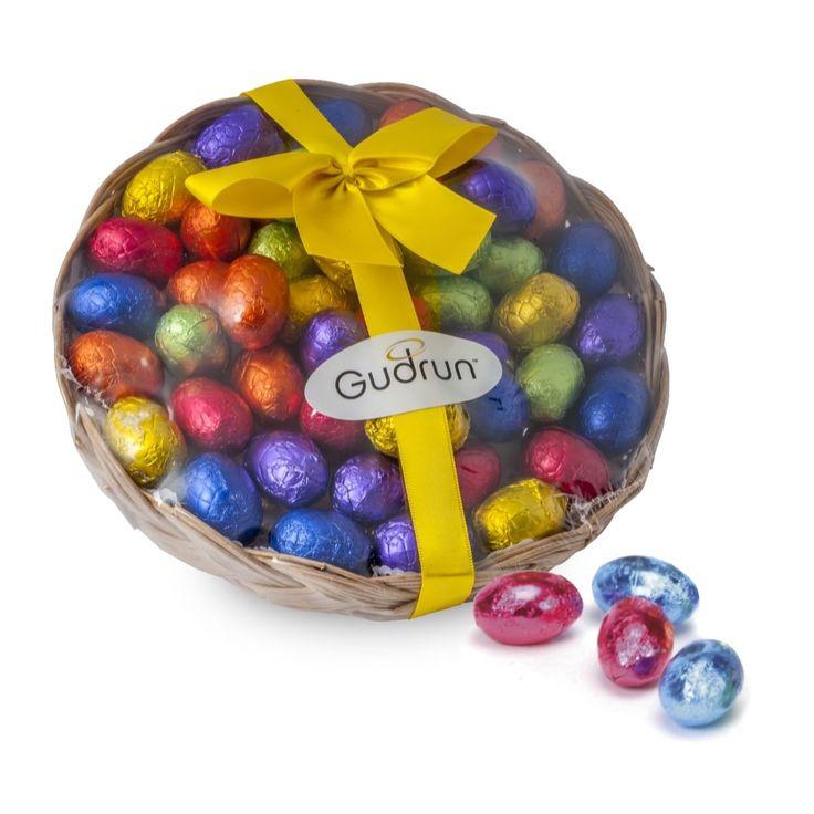 Chocolate Mini-Eggs in Basket