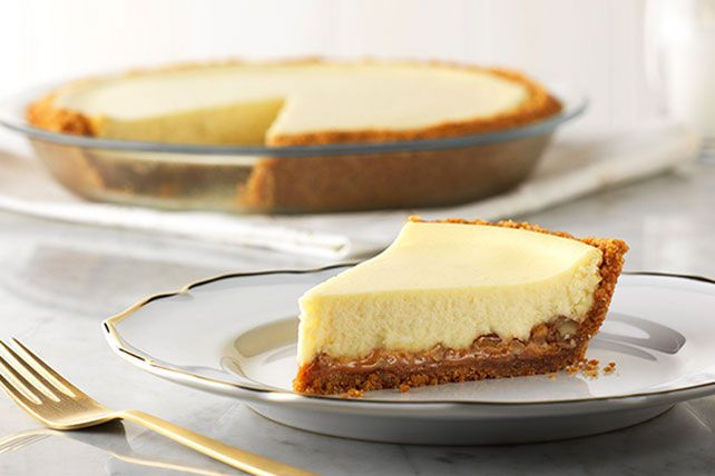 It's hard to say what we like best about this Easy Caramel-Pecan Cheesecake recipe. Is it the caramel, the pecans—or that we can make it in just four simple steps?