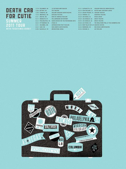 Death Cab For Cutie | Summer 2011 Tour Poster