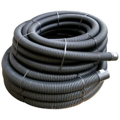 FloPlast 80mm x 25Mtr Coil Land Drainage Pipe Black, 5055149925689