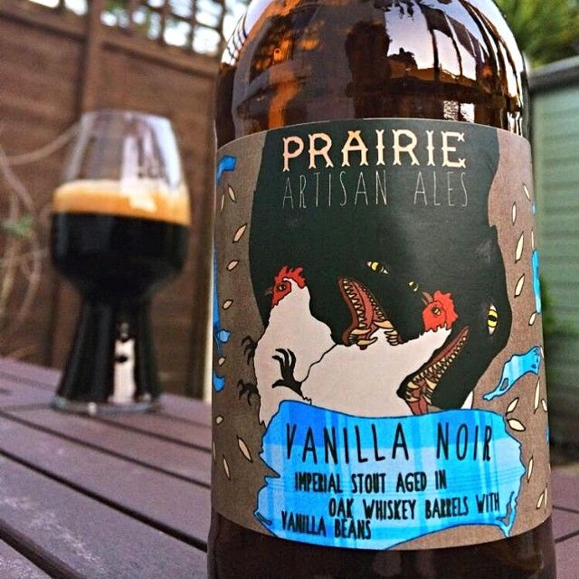 Which do you see first: the chickens or...? Prairie Vanilla Noir Stout with a cheeky #Spiegelau stout glass in the background. #stout #craftbeer