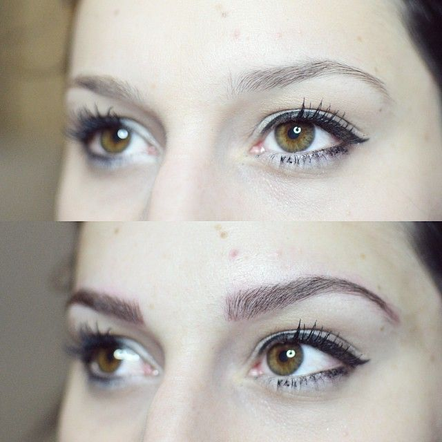cosmetic tattoos: feathered eyebrows: