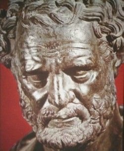 Democritus - 460 - 370 B.C.- Pre-Socratic Greek philosopher from Thrace in northern Greece. Along with his teacher, Leucippus, he was the founder of the Greek philosophical school of Atomism and developed a Materialist account of the natural world. Trained by Priests of East (Magi).