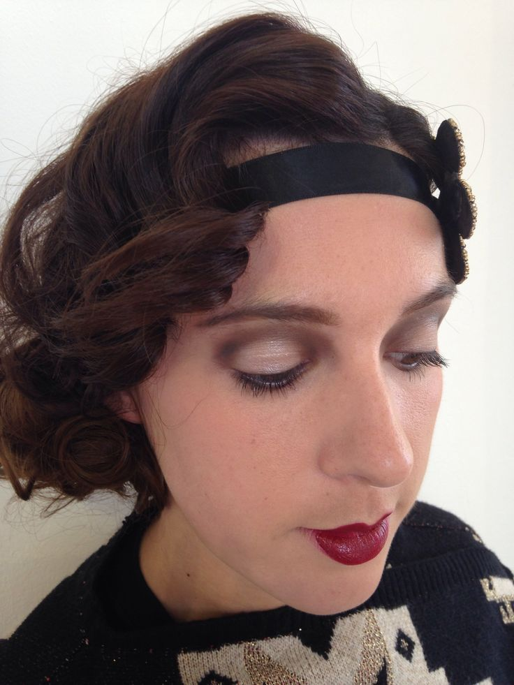 20s Makeup and hair. Finger waves and barrel curls. MUA Charlotte Savage