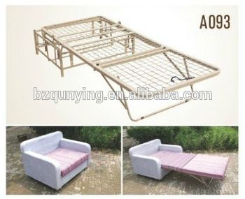 metal pull out sofa bed mechanism frames with wooden slat or metal net A093