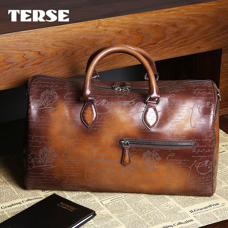 30% off !!! Find More Totes Information about TERSE_Christmas gift handmade leather tote bag with engraving in tobacco handbag genuine leather duffel bag large capacity,High Quality gift,China gifts satellite Suppliers, Cheap gift bags purple from TERSE Official Store on Aliexpress.com