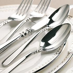 Lenox Pearl Platinum dinnerware, such good pieces- if a kitchen could be considered elegant, mine is because of this set!