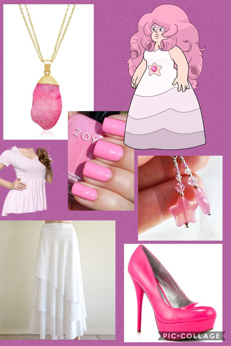I don't own Steven Universe or any of the companies that made these clothes. This is an outfit inspired by Rose Quartz from Steven Universe. I made it on pic collage.