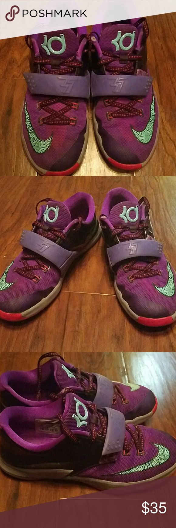 KD shoes Purple KD shoes very worn great for little boys play shoes kd Shoes Sneakers