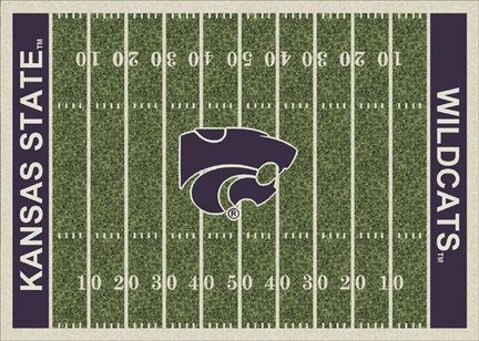 "Kansas State Wildcats 7' 8"" x 10' 9"" NCAA Home Field Area Rug (also smaller)"