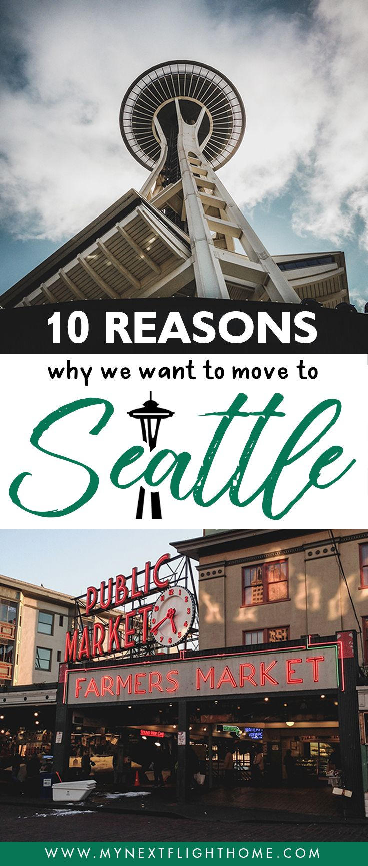10 Reasons Why We Want to Move To Seattle When the kids are all grown up, I see myself living here and basking in the gloomy, rainy weather of this city. For now, I can only share with you some reasons why Seattle has become our favorite. Seattle | Pacific Northwest | PNW | USA | Why Move To Seattle | Space Needle | Washington State | Upper Left USA | Northwest | Living in Seattle | People in Seattle | What's it like in Seattle | Seattle Weather | Pike Place Market