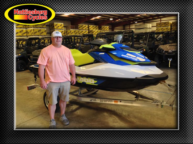 Thanks to William Johnson from Philadelphia MS for getting a 2017 Sea-Doo Wake 155 and a Magic Tilt trailer at Hattiesburg Cycles #seadoo