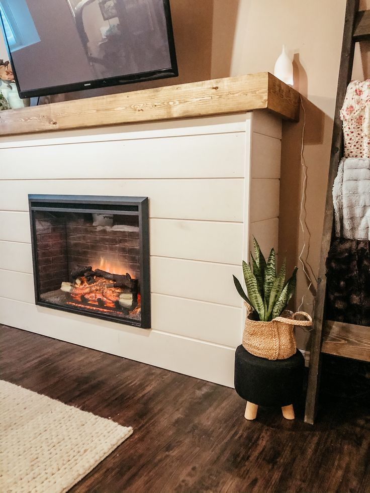 DIY Electric Fireplace Reveal The Rocky Way House in