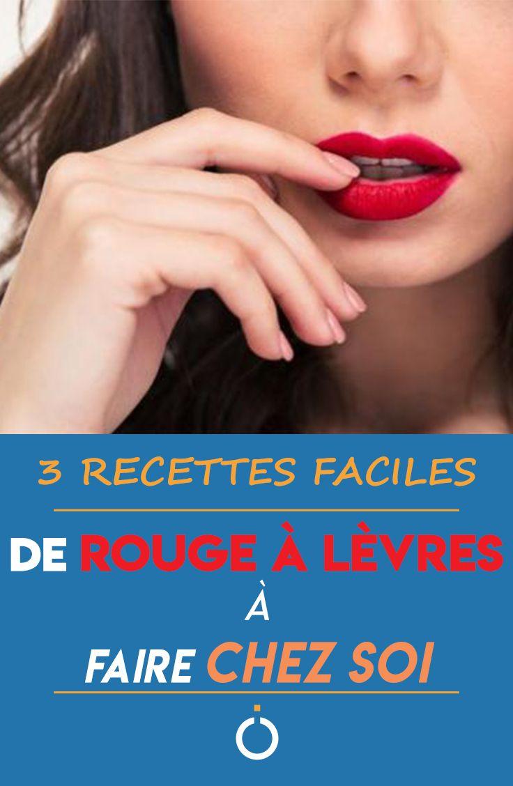 Comment faire un rouge à lèvres maison - 3 recettes faciles en 2020   Rouge a lèvres maison ...