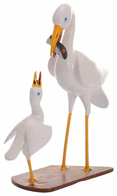 Utsav Kraft Wooden Crane Showpiece