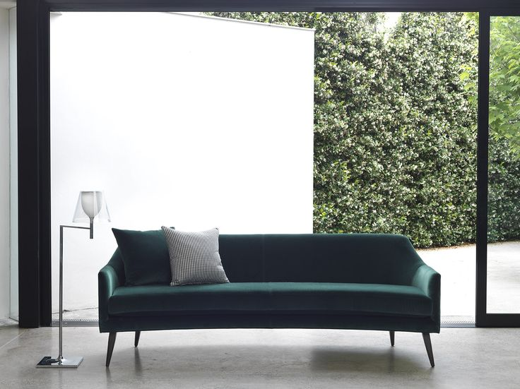 Tufted Sofa Stanley Sofa by Arthur G Green Velvet curved Sofa Australian Made Australian Design