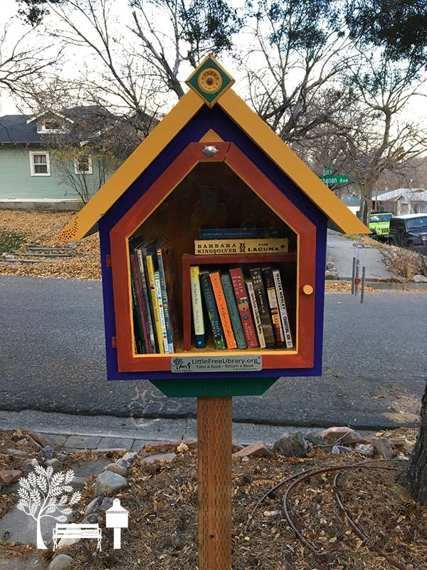 "Kaye Turner. Pocatello, ID. ""Local artist, Tim Norton, built Little Free Libraries for my two sisters and me in honor of our father, Roger Youtz, who died February 24, 2017."""