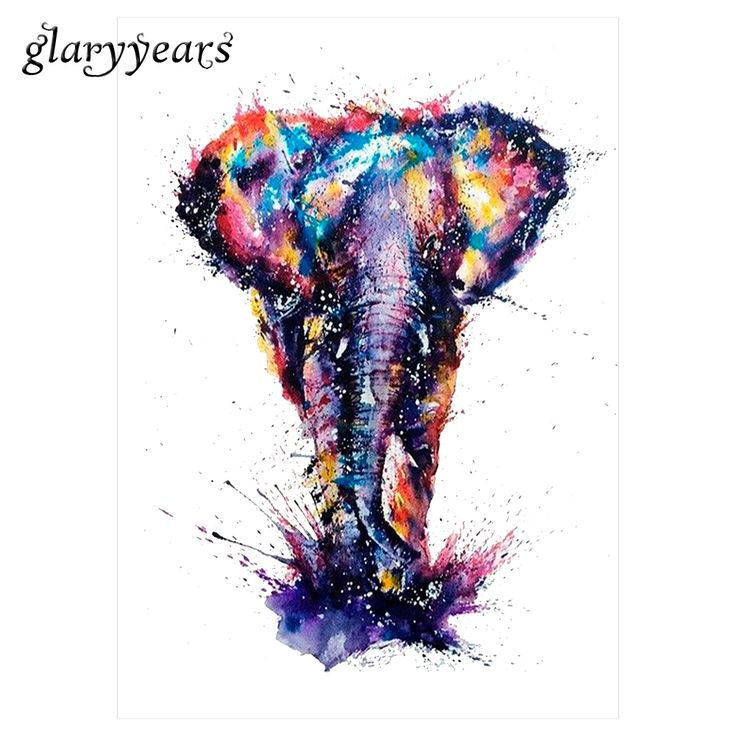 Hot 1pc Water Transfer Fake Tattoo KM-077 Colorful Drawing Elephant Decal Waterproof Temporary Tattoo Sticker for Women Body Art