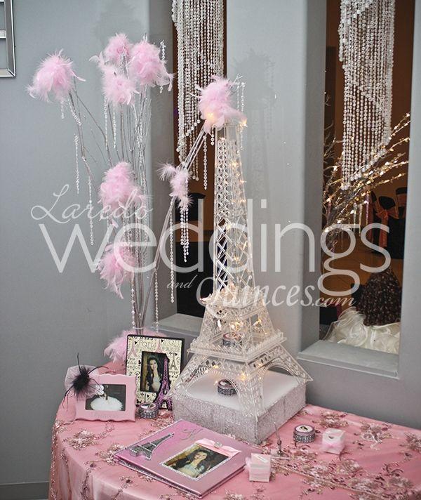 Paris Themed Wedding Reception Ideas: Elegant #paris Theme #pink! Quinceanera To See More Visit