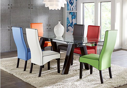 Shop For A Encino 5 Pc Dining Room W White Galena Chairs At Rooms To Go Find Sets That Will Look Great In Your Home And Complement Th
