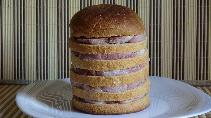 """Хлеб """"Дорожный"""" с домашней ветчиной. Как испечь домашний хлеб."""
