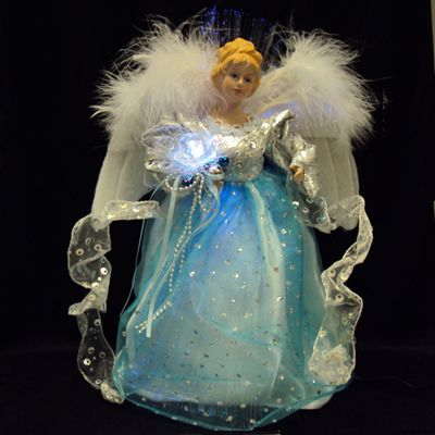 Fiber Optic Christmas Tree Angel