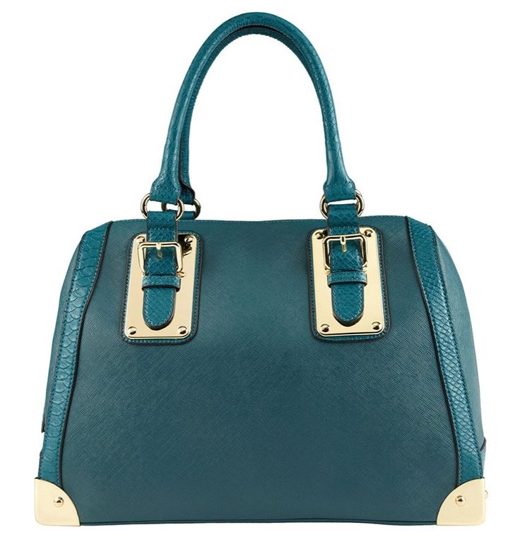 """Stand out with the stunning ALDO """"Adelaide"""" Barrel Bag in teal this spring!"""
