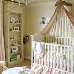 Beautiful baby girl nursery, plus more Baby Room Ideas.