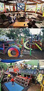 Weekends or School Holidays - St.Kilda Adventure Playground or Skinners Adventure Playground.   City of Port Phillip Website