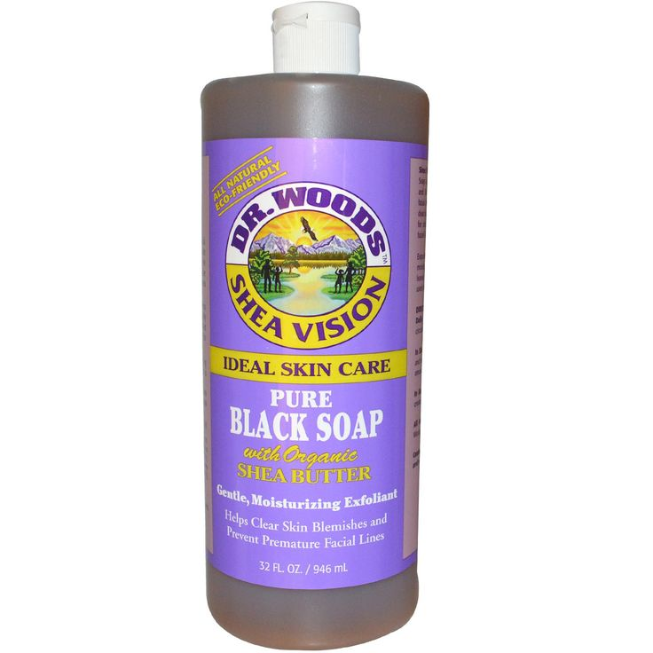 Dr. Woods, Shea Vision, Pure Black Soap, 32 fl oz (946 ml) - great for all cleaning purposes!!  Discount code QOC222
