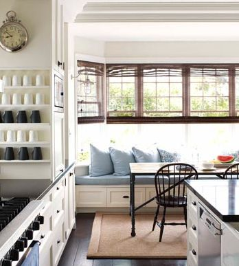 Hamptons Style - House & Garden Kitchen Banquette