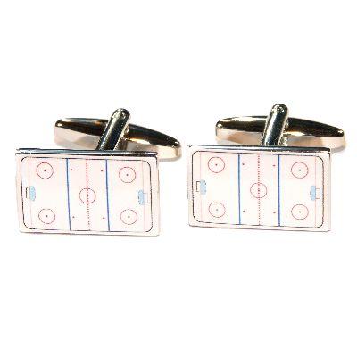 Ice Hockey Rink Cufflinks - £17.95