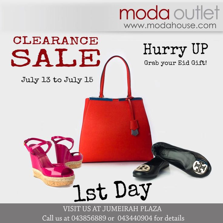 CLEARANCE SALE FOR EID! July 13 -15 VALENTINO, GUCCI, YSL, FENDI, D&G and TOMFORD. Shoes, Bags and Accessories offers up to 75% from retail price. Hurry Up and get your EID gift! All our items are genuine and 100% authentic. www.modahouse.com #discount #sale #promotion #fashion #fashionsale #uaefashion #uae #dubai #dxb #دبي #الامارات #modahouse #modaoutlet