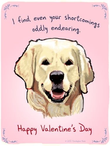 free valentine ecards with dogs