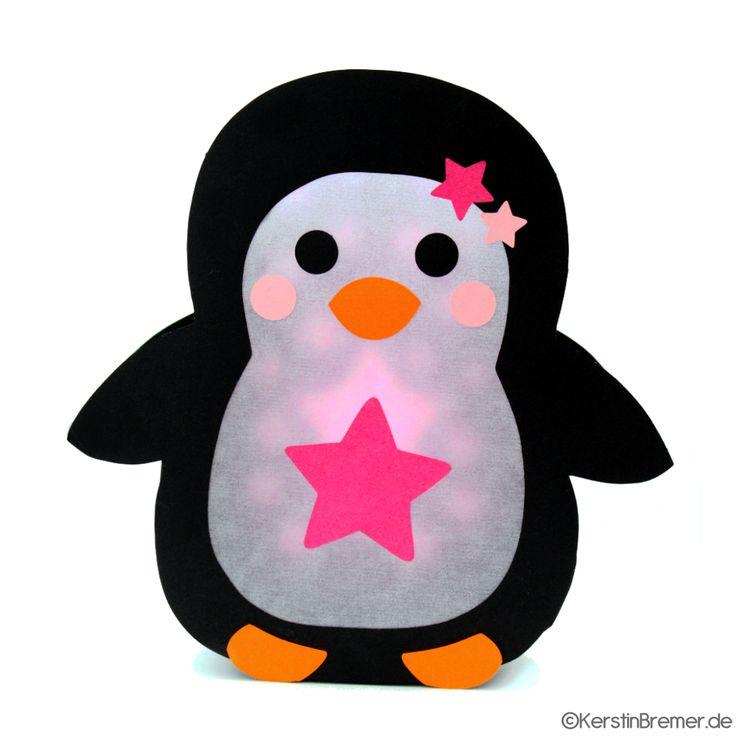 Plotterdatei Pinguin Laterne