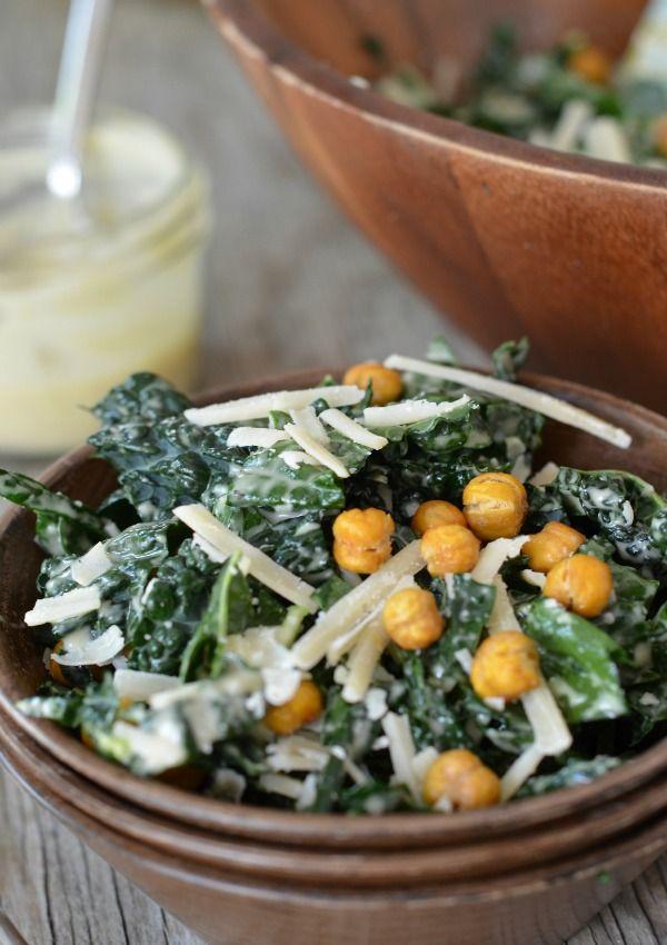Kale Caesar Salad :: mage via Mountain Mama Cooks via Established California blog