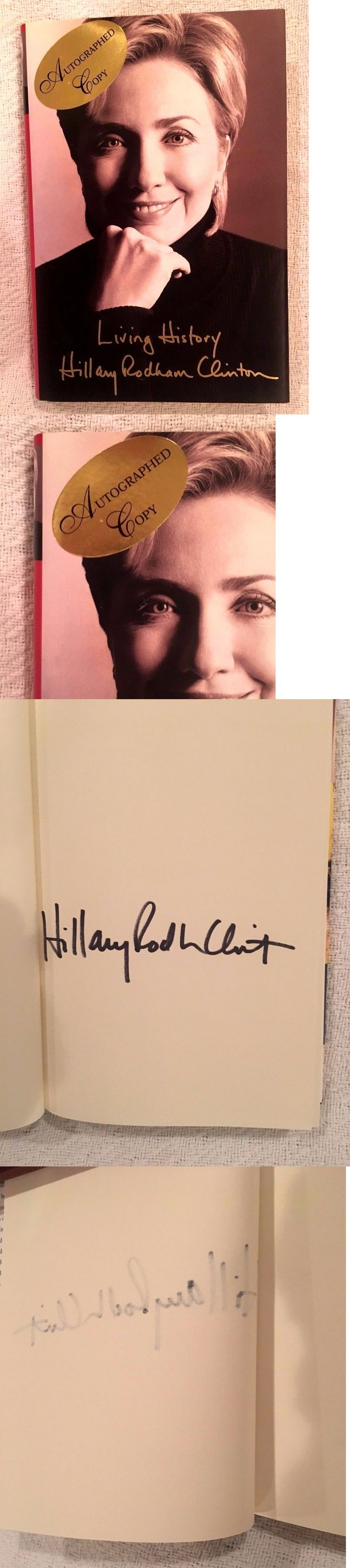 Hillary Clinton: Hillary Clinton Signed Book Living History -> BUY IT NOW ONLY: $19.99 on eBay!